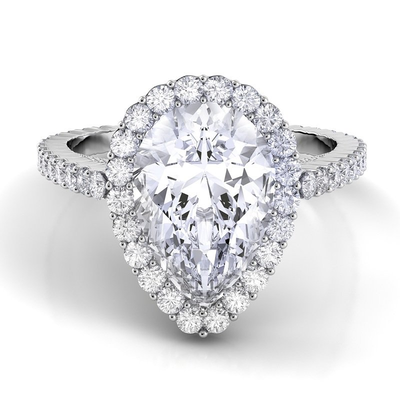 Danhov Carezza Single Shank Engagement Ring