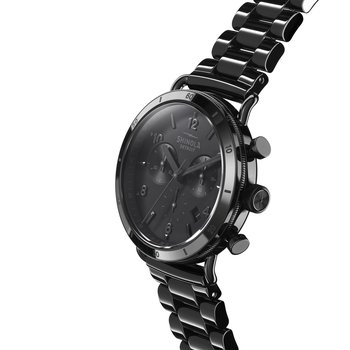 The Canfield Sport 40mm Stainless Black Dial Bracelet Watch