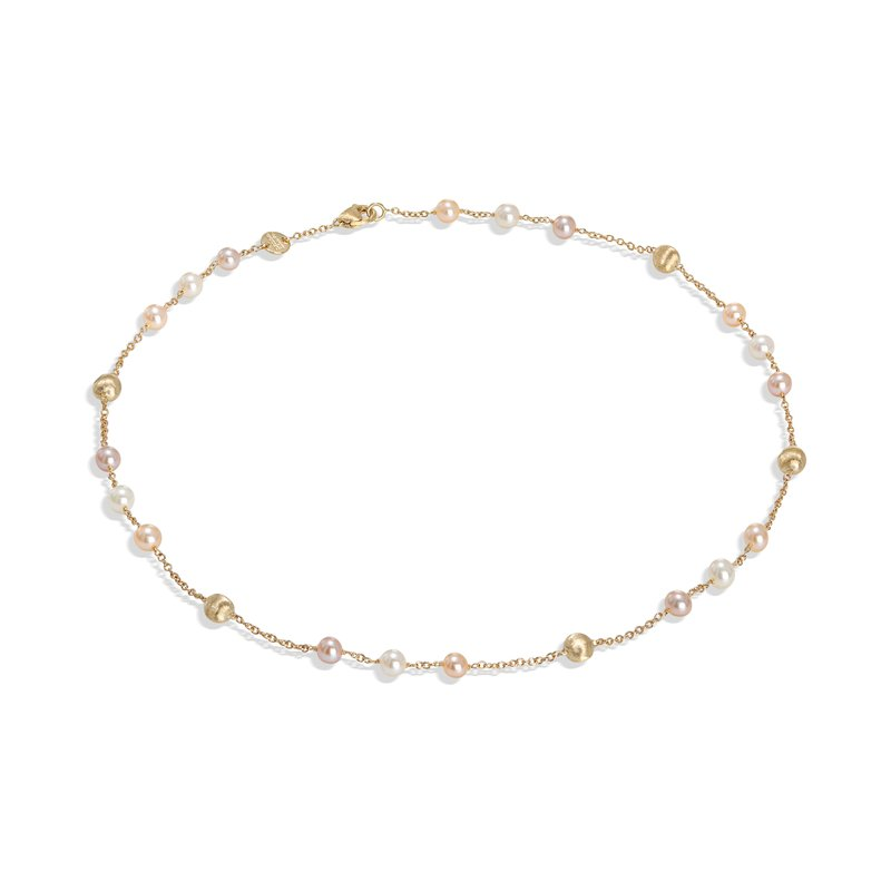 Marco Bicego Africa Pearl Collection 18K Yellow Gold and Pearl Short Necklace