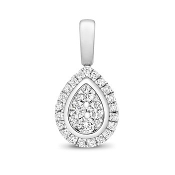 Diamond Cluster Pendant Pear