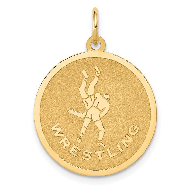 Quality Gold 14k WRESTLING Disc Charm