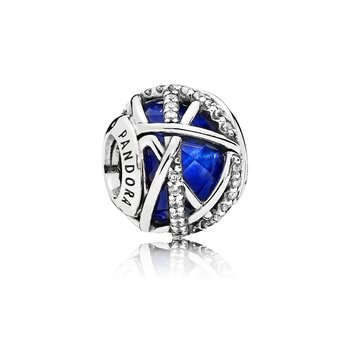 Galaxy Charm, Royal Blue Crystal Clear Cz