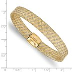 Leslie's Leslie's 14K Two-tone Fancy Stretch Bangle Bracelet