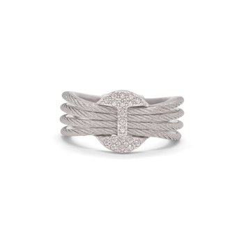 Bar Medallion Ring