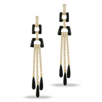 Gatsby Diamond Dangle Earrings 18KY