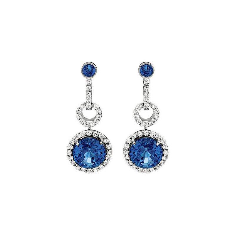 2f75b9999 Bogart's Jewellers: Chatham Blue Sapphire Earrings-CE2275WBS
