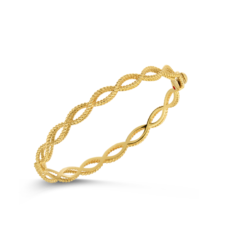 Roberto Coin 18KT GOLD 1 ROW BANGLE