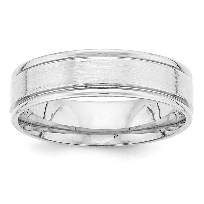 Lester Martin Online Collection 14k White Gold Heavy Comfort Fit Fancy Band