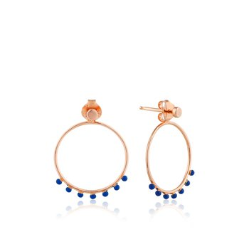 Dotted Front Hoop Earrings