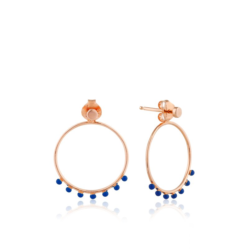 Ania Haie Dotted Front Hoop Earrings