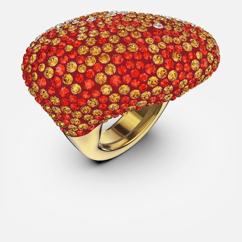 The Elements Ring, Orange, Gold-tone plated