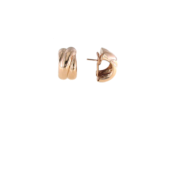 18Kt Rose Gold Wide Twist Earring