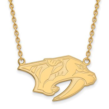 Gold-Plated Sterling Silver Nashville Predators NHL Necklace