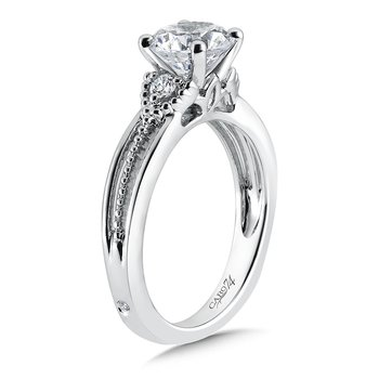 3 Stone Engagement Ring in 14K White Gold with Platinum Head (1-1/2ct. tw.)