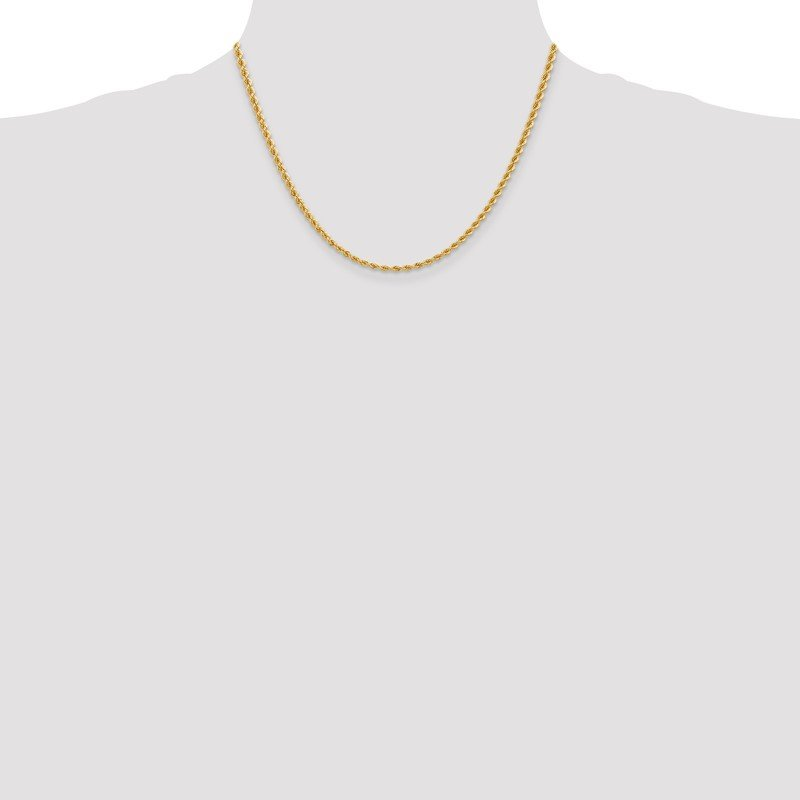 14K 2.75mm Regular Rope Chain