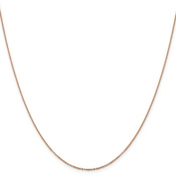Leslie's 14K Rose Gold 1.1 mm Flat Cable Chain