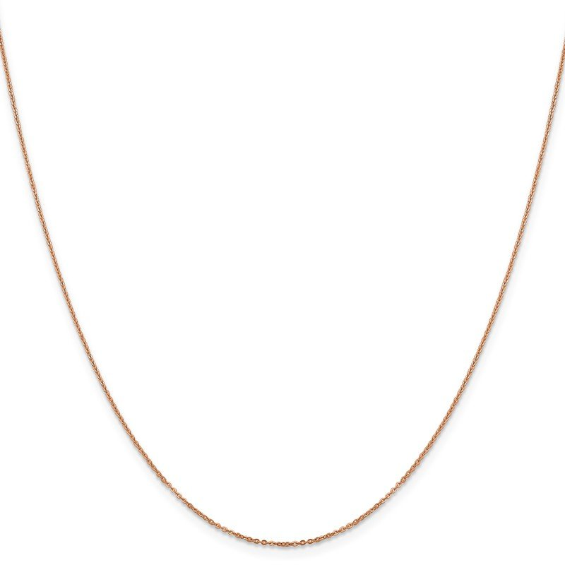 Leslie's Leslie's 14K Rose Gold 1.1 mm Flat Cable Chain