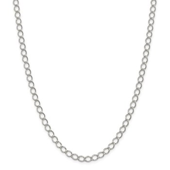 Sterling Silver 5.75mm Fancy Open Curb Chain