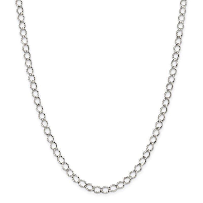 Quality Gold Sterling Silver 5.75mm Fancy Open Curb Chain