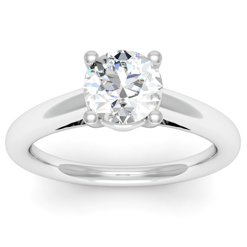 J.F. Kruse Signature Collection Petite Cathedral Solitaire Engagement Ring