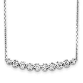 Sterling Silver CZ 16in w/2in ext Necklace
