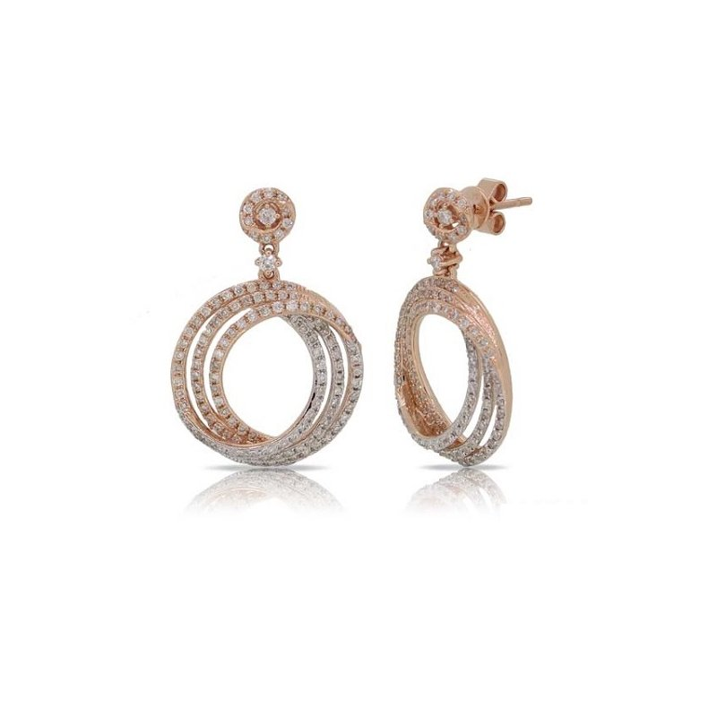 S. Kashi  & Sons Rose Gold Diamond Earring