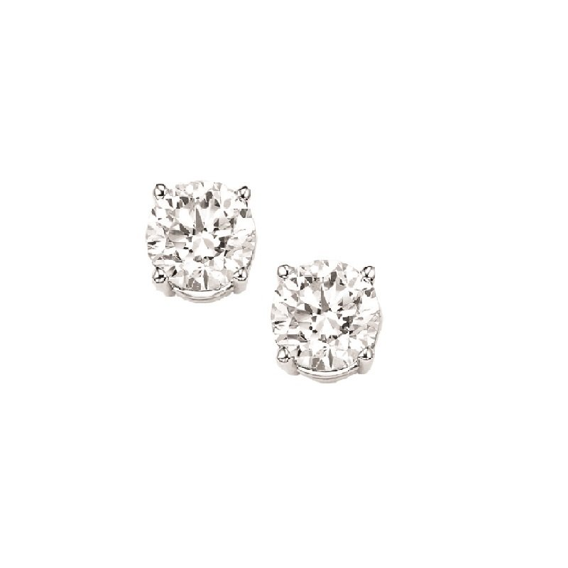 Gems One Diamond Stud Earrings in 18K White Gold (1/10 ct. tw.) I1/I2 - G/H