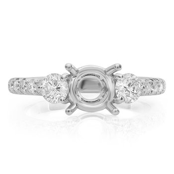Diamond Side Stone Engagement Setting