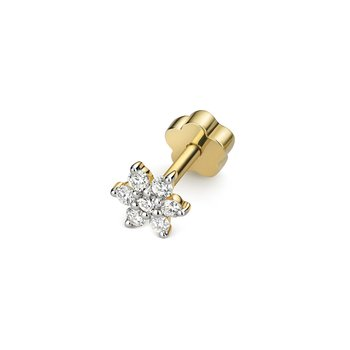 Diamond Cartilage Flower Stud