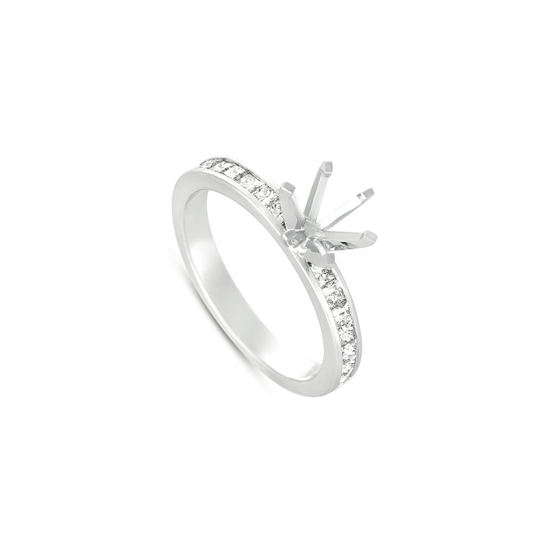 S. Kashi  & Sons White Gold Engagement Ring