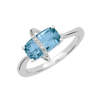 Aqua Blue Spinel Ring-CR12387WAQ
