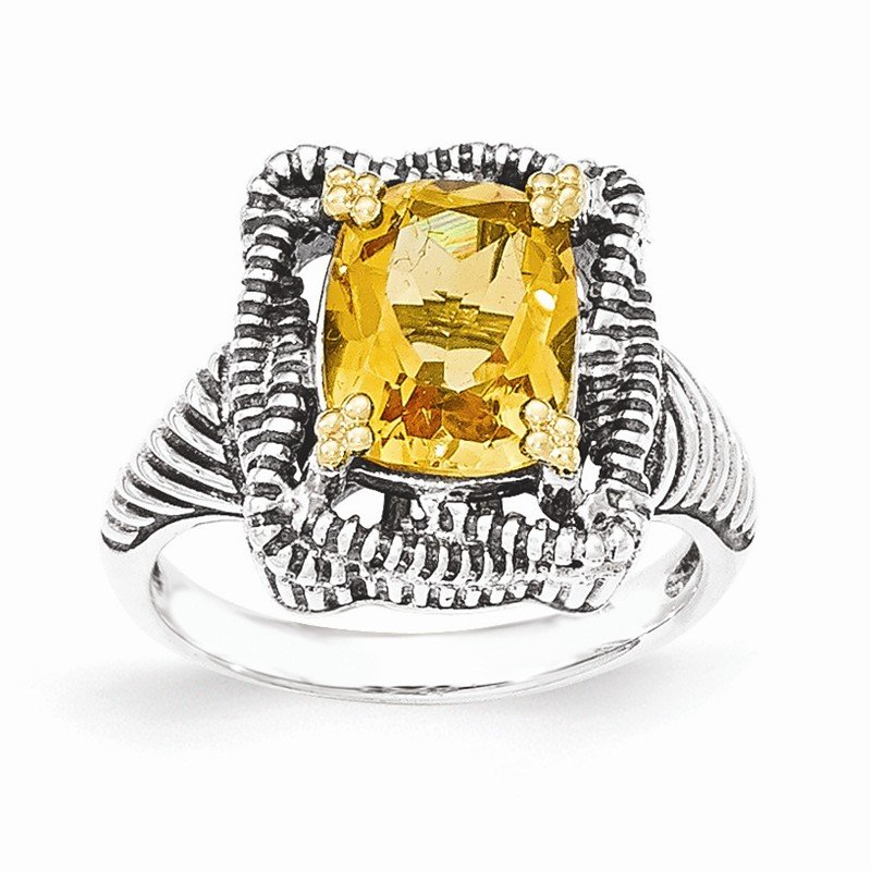 Shey Couture Sterling Silver w/14k Citrine Ring