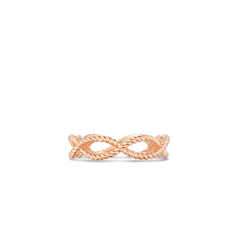 Roberto Coin 1 Row Ring &Ndash; 18K Rose Gold, 7