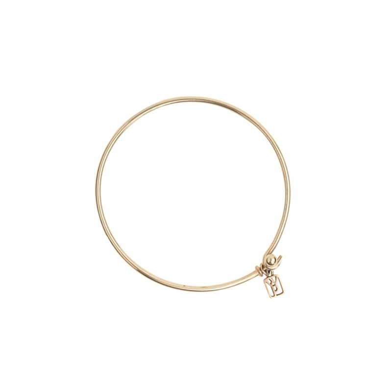 Waxing Poetic Wire Bangle - Brass