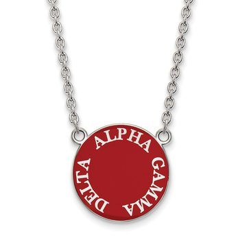 Sterling Silver Alpha Gamma Delta Greek Life Necklace