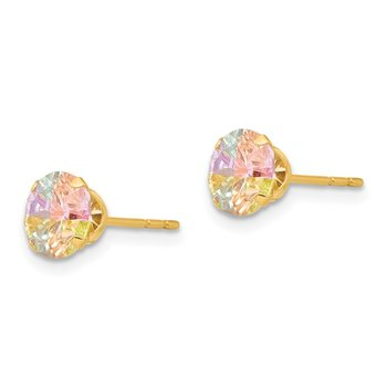 14k Madi K Multi-color CZ 6mm Post Earrings
