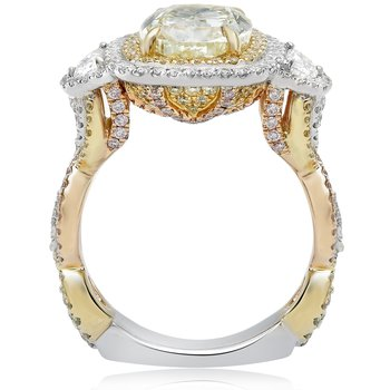Three Carat Euro Shank Diamond Ring