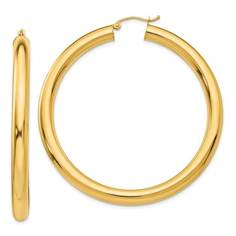 Quality Gold 14k Polished 5mm Lightweight Hoop Earrings