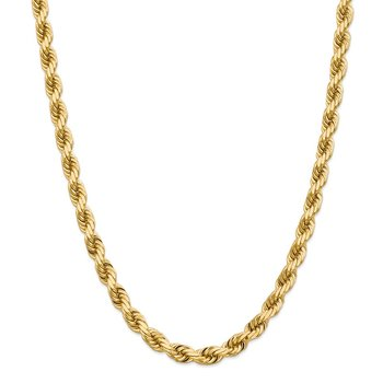14K 8mm D/C Rope with Fancy Lobster Clasp Chain