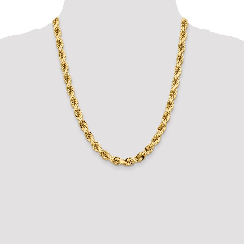 Quality Gold 14K 8mm D/C Rope with Fancy Lobster Clasp Chain