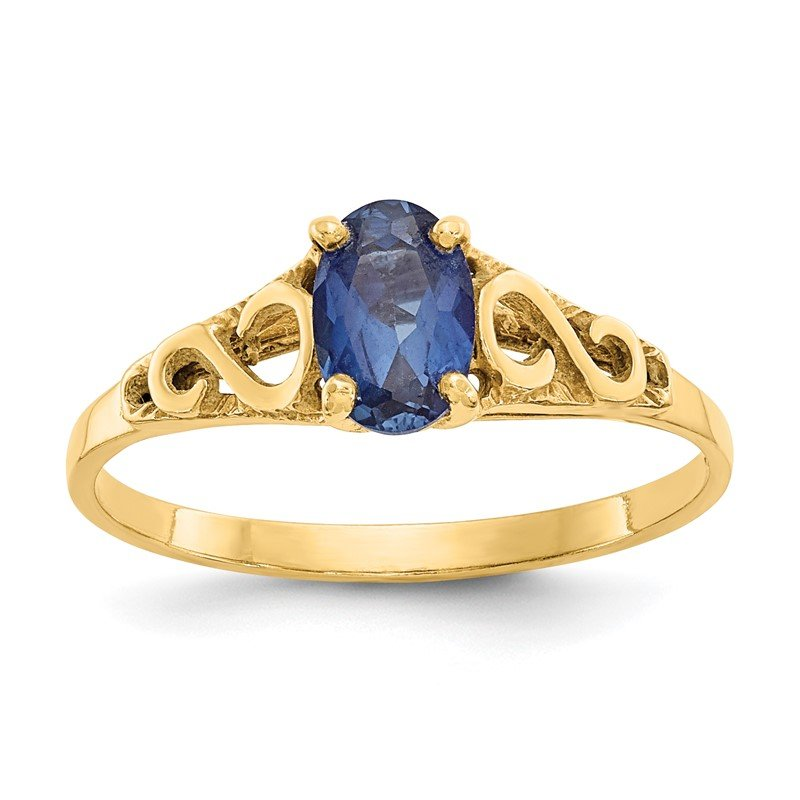 Quality Gold 14k Madi K Synthetic Sapphire Spinel Ring