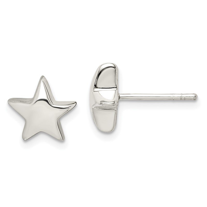Quality Gold Sterling Silver Star Earrings