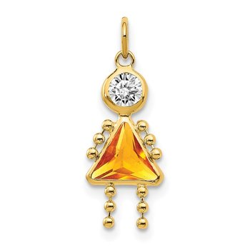 14k November Girl Birthstone Charm