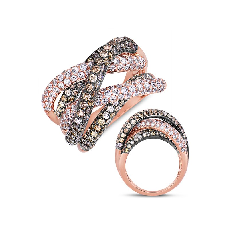 S. Kashi  & Sons Rose Gold Fashion Ring