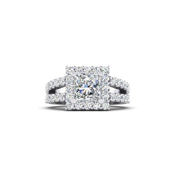 OMG Series Princess Cut Split Shank Style Engagement Ring
