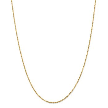 14k 1.50mm Diamond-cut Rope Chain Anklet