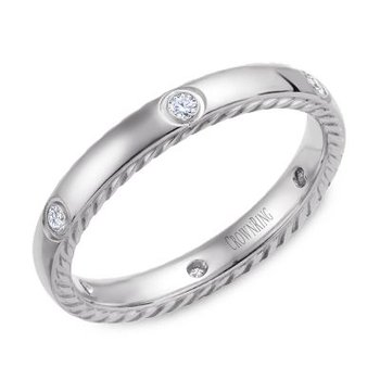 CrownRing Men's Wedding Band WB-016RD3W