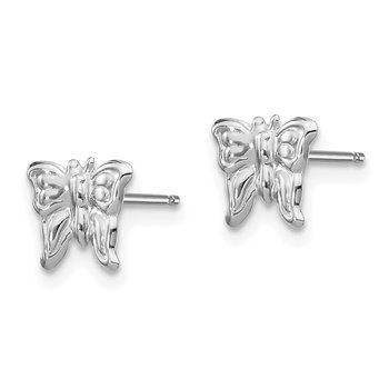 14k White Gold Madi K Butterfly Earrings