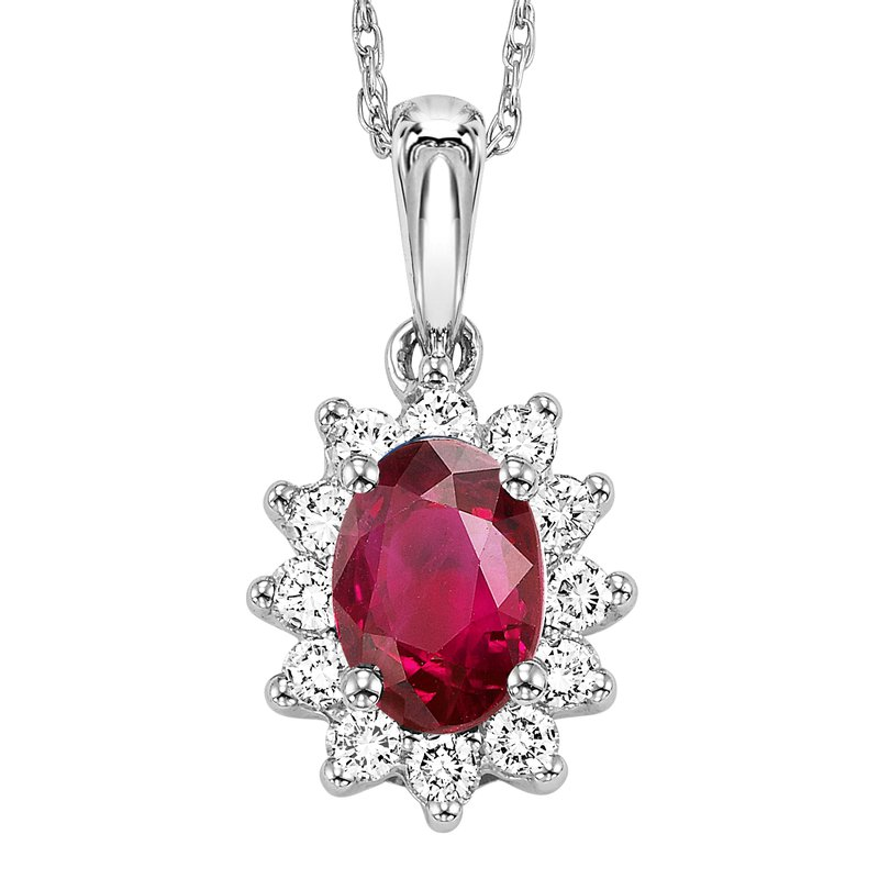 Mixables 14K Ruby & Diamond Pendant