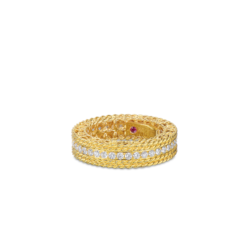Roberto Coin 18Kt Gold Round Diamond Ring
